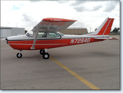 Dr. Stevens pilogs a Cessna 172 at Harborside Aviation, Punta Gorda Florida